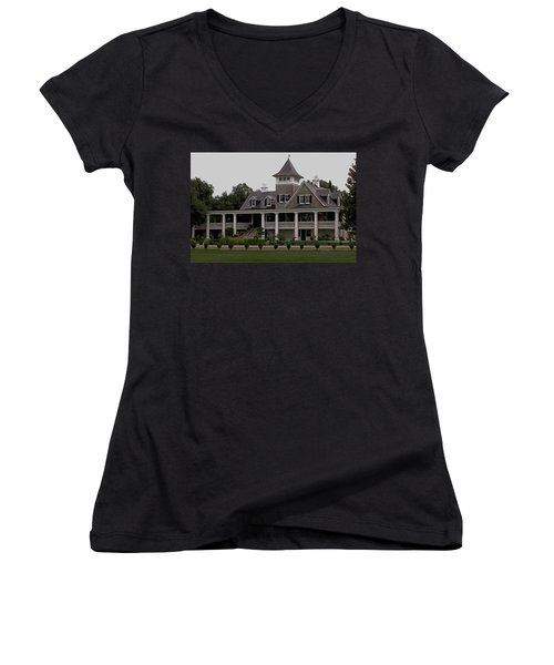 Magnolia Plantation Home Women's V-Neck T-Shirt
