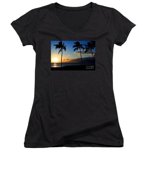 Mai Ka Aina Mai Ke Kai Kaanapali Maui Hawaii Women's V-Neck T-Shirt