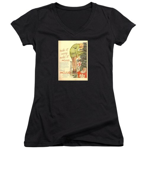 Make It Merry...make It Mojud Women's V-Neck