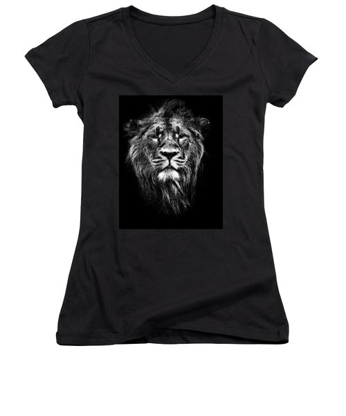 Male Asiatic Lion Women's V-Neck