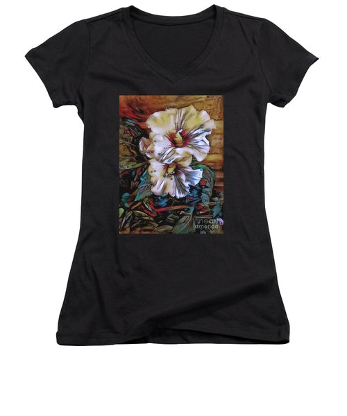 Mallow Mallow Women's V-Neck T-Shirt (Junior Cut) by Jack Torcello