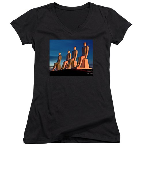 Man At Sea  Women's V-Neck (Athletic Fit)
