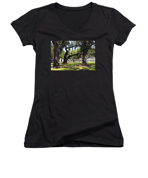 Manresa In Convent In La Women's V-Neck (Athletic Fit)
