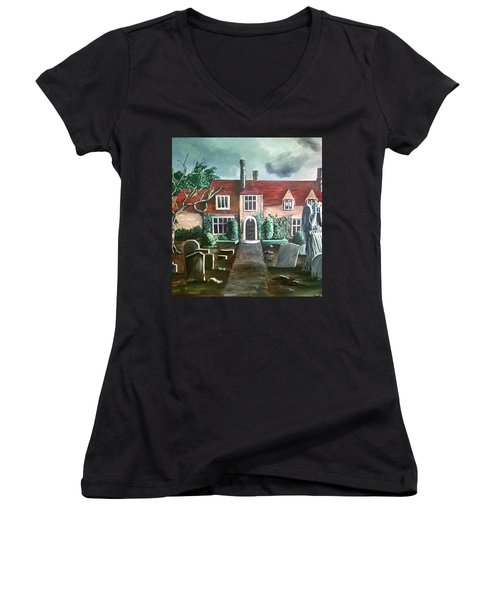 Mansion Women's V-Neck T-Shirt (Junior Cut) by Persephone Artworks