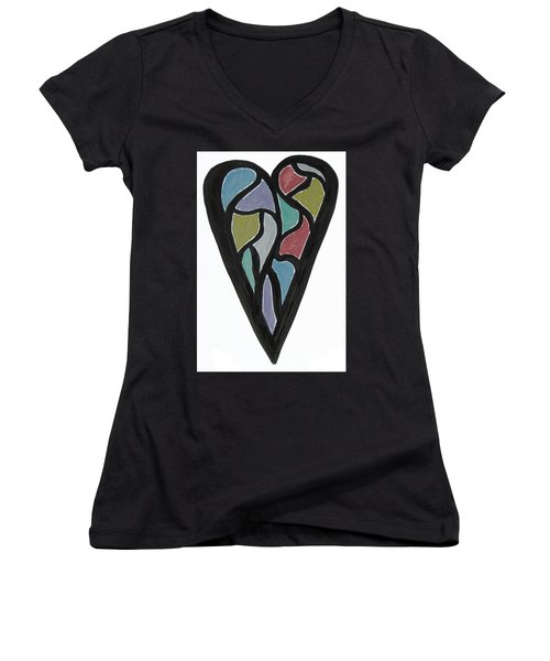 Map Heart Women's V-Neck (Athletic Fit)