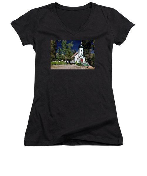 Marble Chapel Women's V-Neck (Athletic Fit)