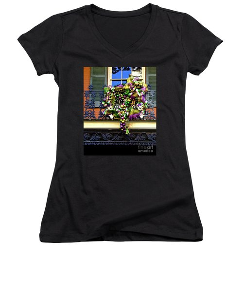 Mardi Gras Decor 1 Women's V-Neck T-Shirt