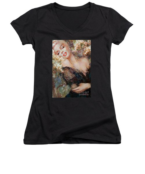 Marilyn Cherry Blossom Women's V-Neck