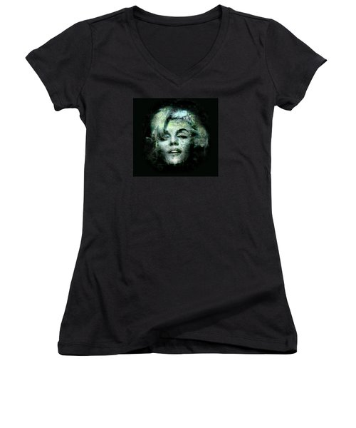 Marilyn Monroe Women's V-Neck T-Shirt (Junior Cut) by Kim Gauge