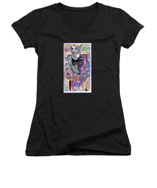 Matty Women's V-Neck (Athletic Fit)