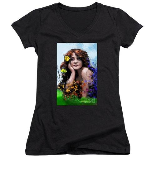 May Women's V-Neck T-Shirt (Junior Cut)