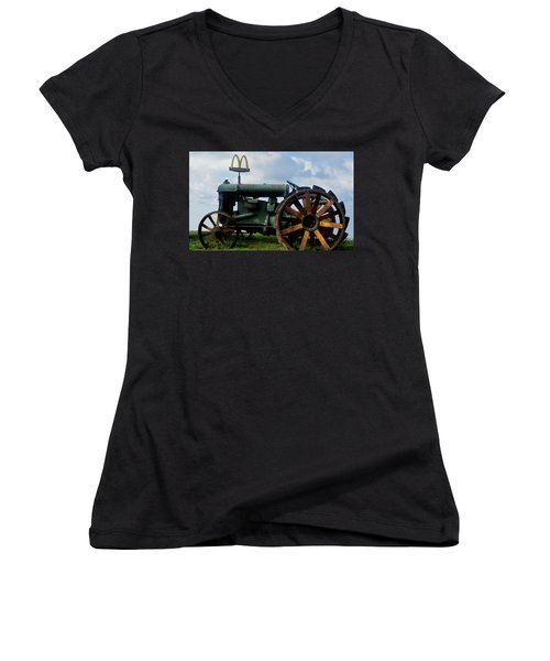 Mctractor Women's V-Neck T-Shirt (Junior Cut) by Gary Smith