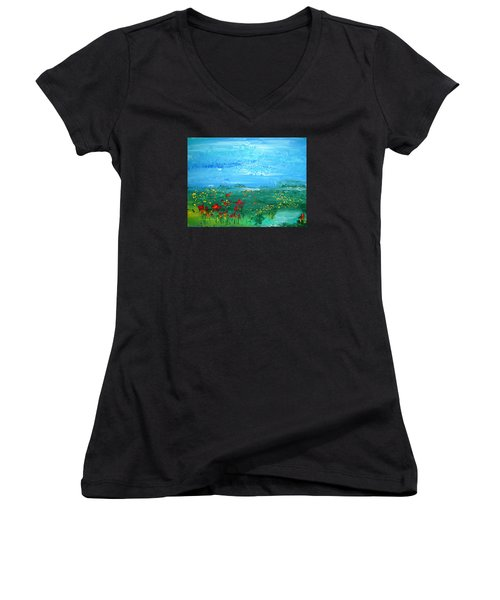 Meadow Pond By Colleen Ranney Women's V-Neck