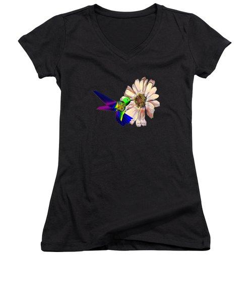 Mecha Whirlygig Women's V-Neck T-Shirt