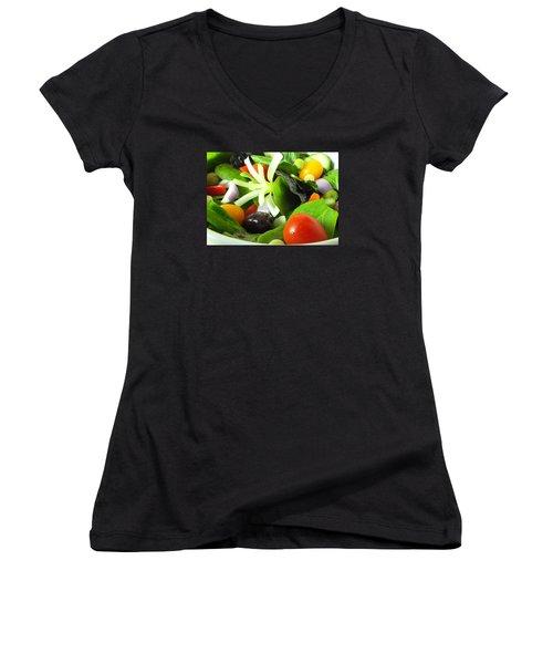 Mediterranean Salad Women's V-Neck T-Shirt