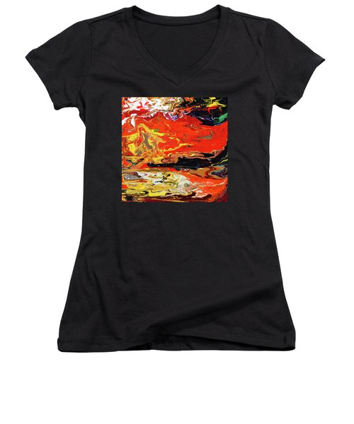 Melt Women's V-Neck T-Shirt (Junior Cut) by Ralph White