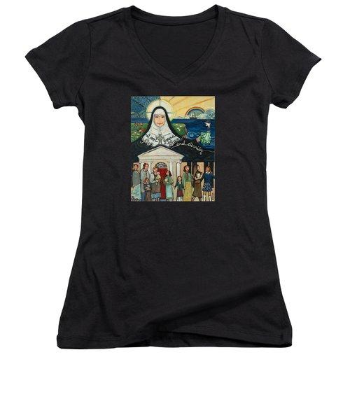 Mercy Foundress Catherine Mcauley Women's V-Neck T-Shirt