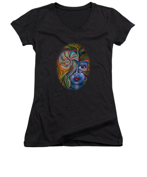 Mesmerize Women's V-Neck T-Shirt (Junior Cut) by Deborha Kerr