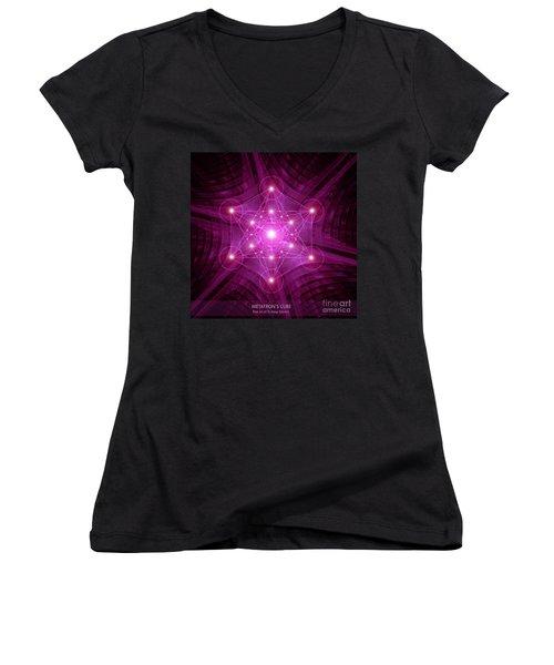 Metatron's Cube Women's V-Neck