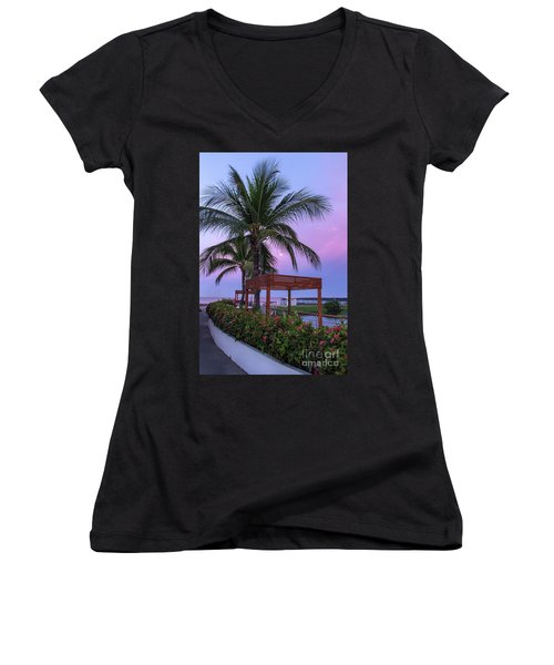 Mexican Moonrise Mexican Art By Kaylyn Franks Women's V-Neck