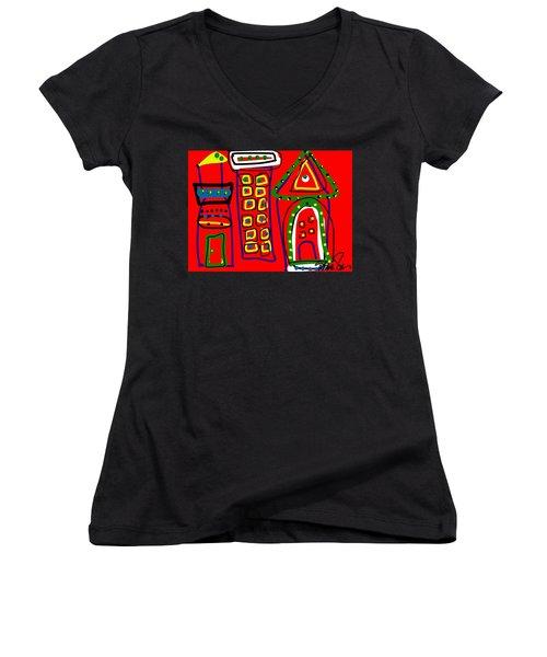 Michael Landon Little House On The Prairie Women's V-Neck T-Shirt