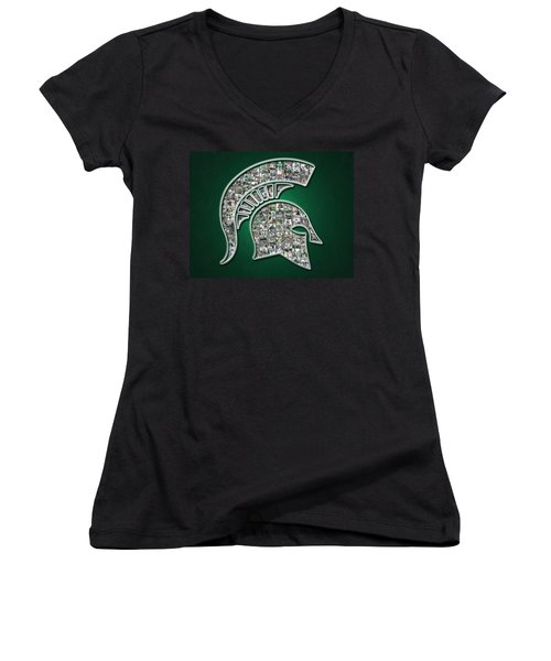 Michigan State Spartans Football Women's V-Neck T-Shirt