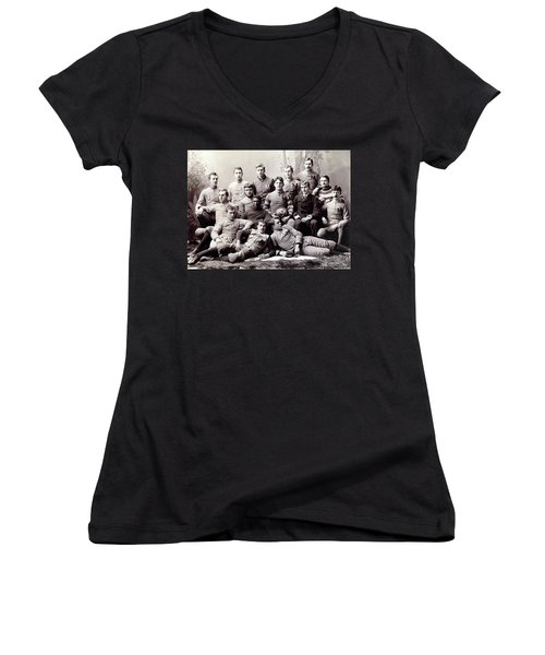 Michigan Wolverine Football Heritage 1890 Women's V-Neck T-Shirt