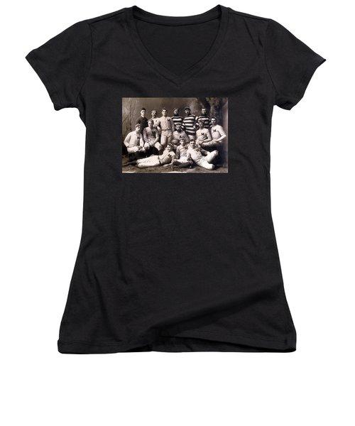 Michigan Wolverines Football Heritage 1888 Women's V-Neck T-Shirt
