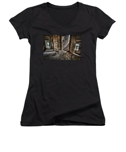 Middle Floor Seating Women's V-Neck T-Shirt