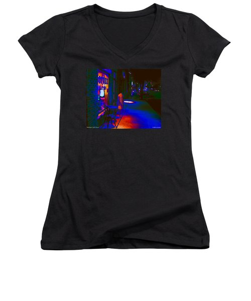 Midnight Coffee Dream Women's V-Neck (Athletic Fit)