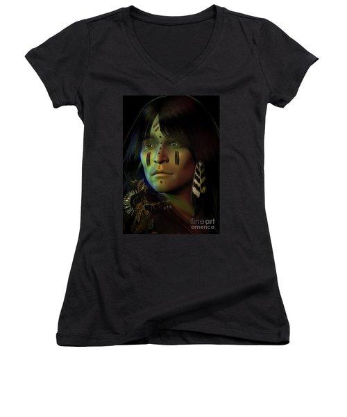 Midnight Dreaming Women's V-Neck T-Shirt