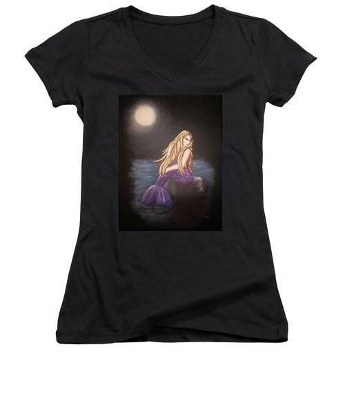Midnight Mermaid Women's V-Neck