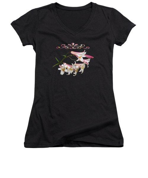 Midnight Radiance Women's V-Neck T-Shirt