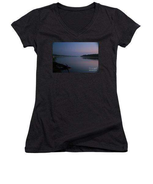 Midnite Blue Women's V-Neck T-Shirt