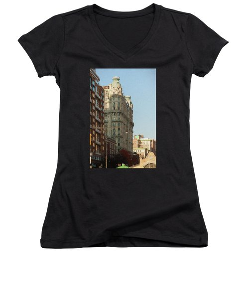 Midtown Manhattan Apartments Women's V-Neck (Athletic Fit)
