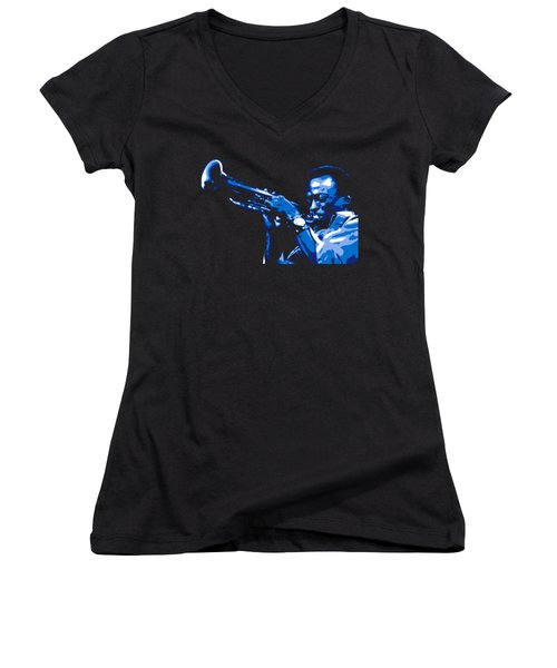 Miles Davis Women's V-Neck (Athletic Fit)