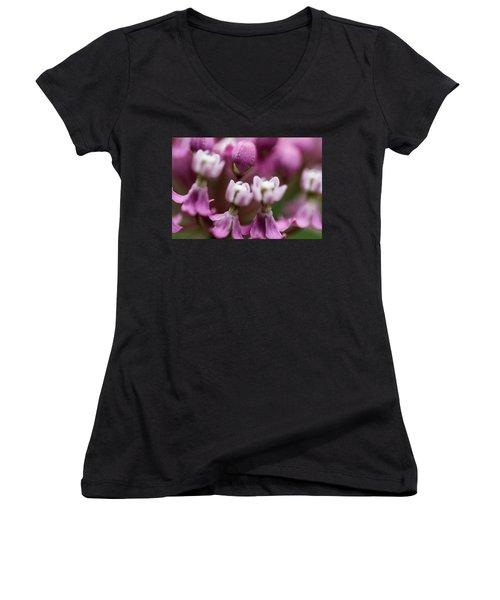 Milkweed Macro Women's V-Neck
