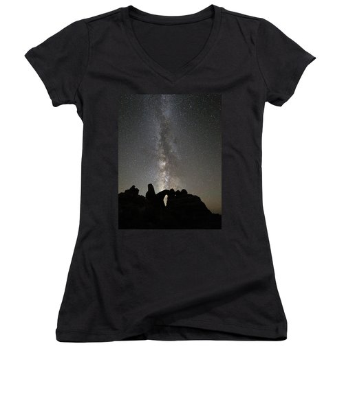 Milky Way Over Turret Arch Women's V-Neck