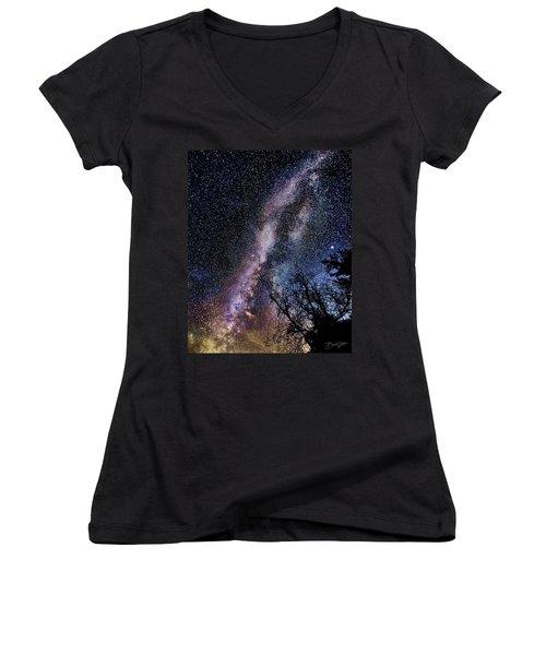Milky Way Splendor Women's V-Neck (Athletic Fit)