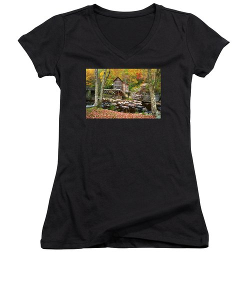 Mill At Babcock State Park Women's V-Neck (Athletic Fit)