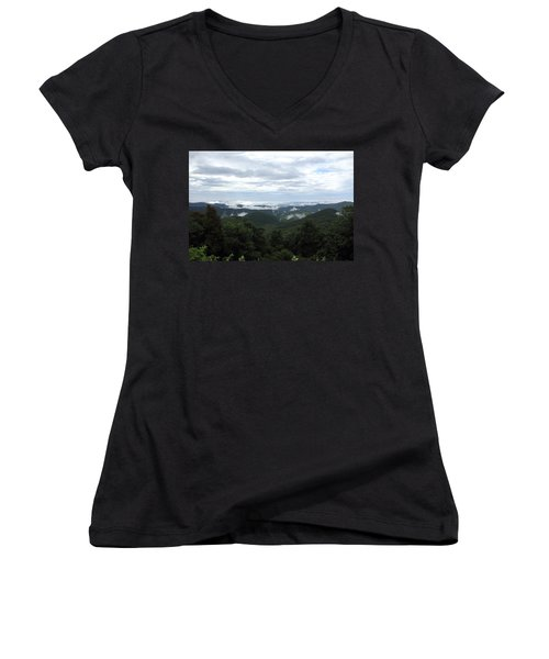 Mills River Valley View Women's V-Neck T-Shirt