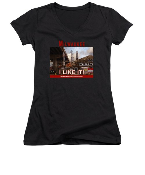 Milwaukee - I Like It - Thiele Tanning Women's V-Neck T-Shirt