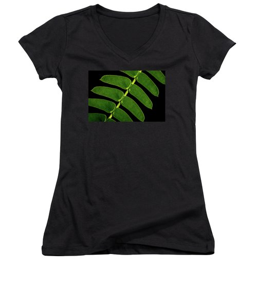 Women's V-Neck T-Shirt (Junior Cut) featuring the photograph Mimosa by Jay Stockhaus