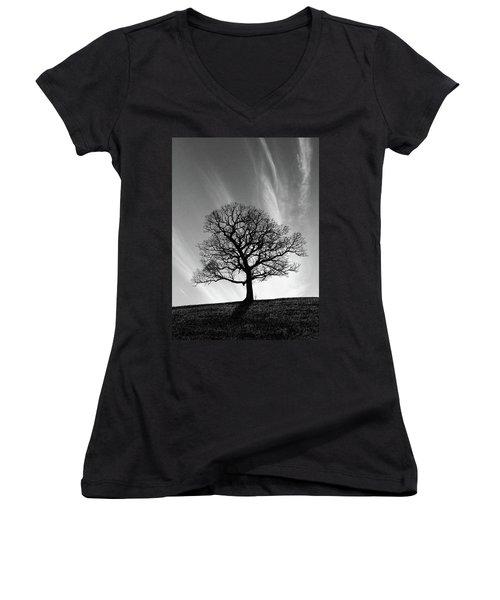 Missouri Treescape Women's V-Neck T-Shirt (Junior Cut) by Christopher McKenzie