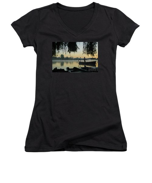 Mist Lake Silhouette Women's V-Neck