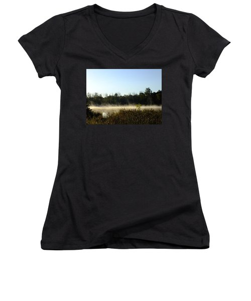 Mists On The Welland Women's V-Neck T-Shirt
