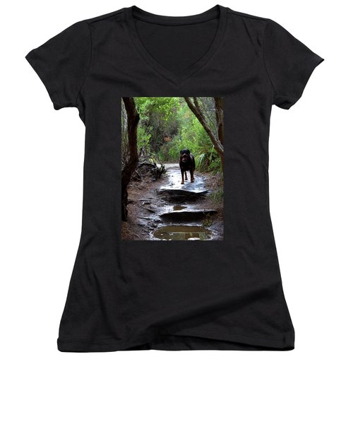 Misty I Will Always Remember Your Smile Women's V-Neck (Athletic Fit)