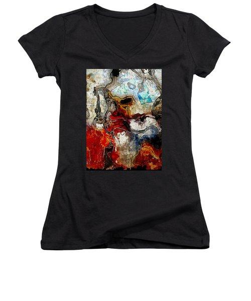 Mixed Emotions Women's V-Neck T-Shirt (Junior Cut) by The Art Of JudiLynn