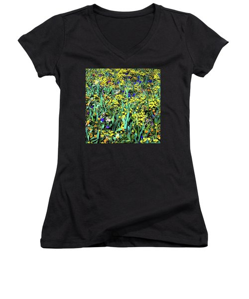 Mixed Flower Garden 515 Women's V-Neck