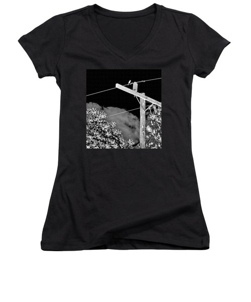 Mockingbird On A Wire Women's V-Neck (Athletic Fit)